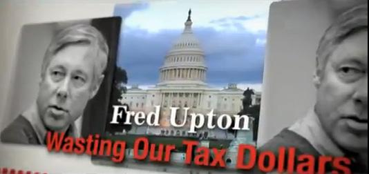 "The attack ad against Michigan Congressman Fred Upton (R-MI) from the PAC ""Club for Growth."""