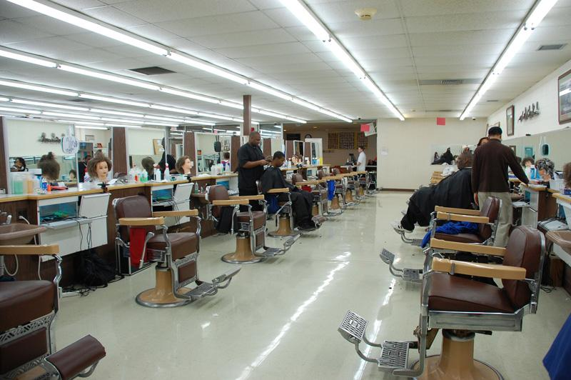The Flint Institute of Barbering doubles as a community barber shop.