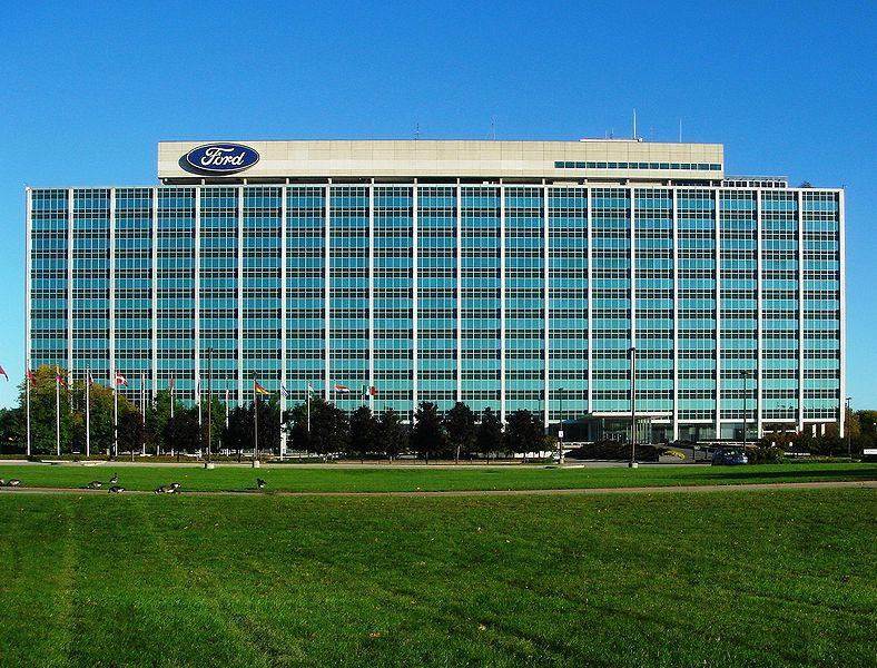 Ford's global headquarters in Dearborn.