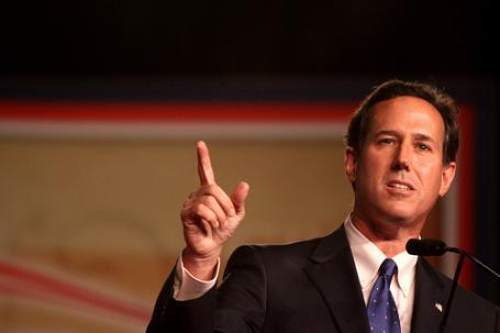 Rick Santorum is campaigning in Michigan ahead of the state's primary.