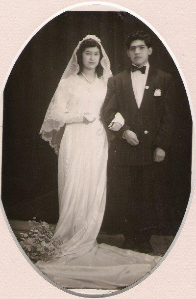 Esther and Antonio Manzo on their wedding day in the mid 1940's.