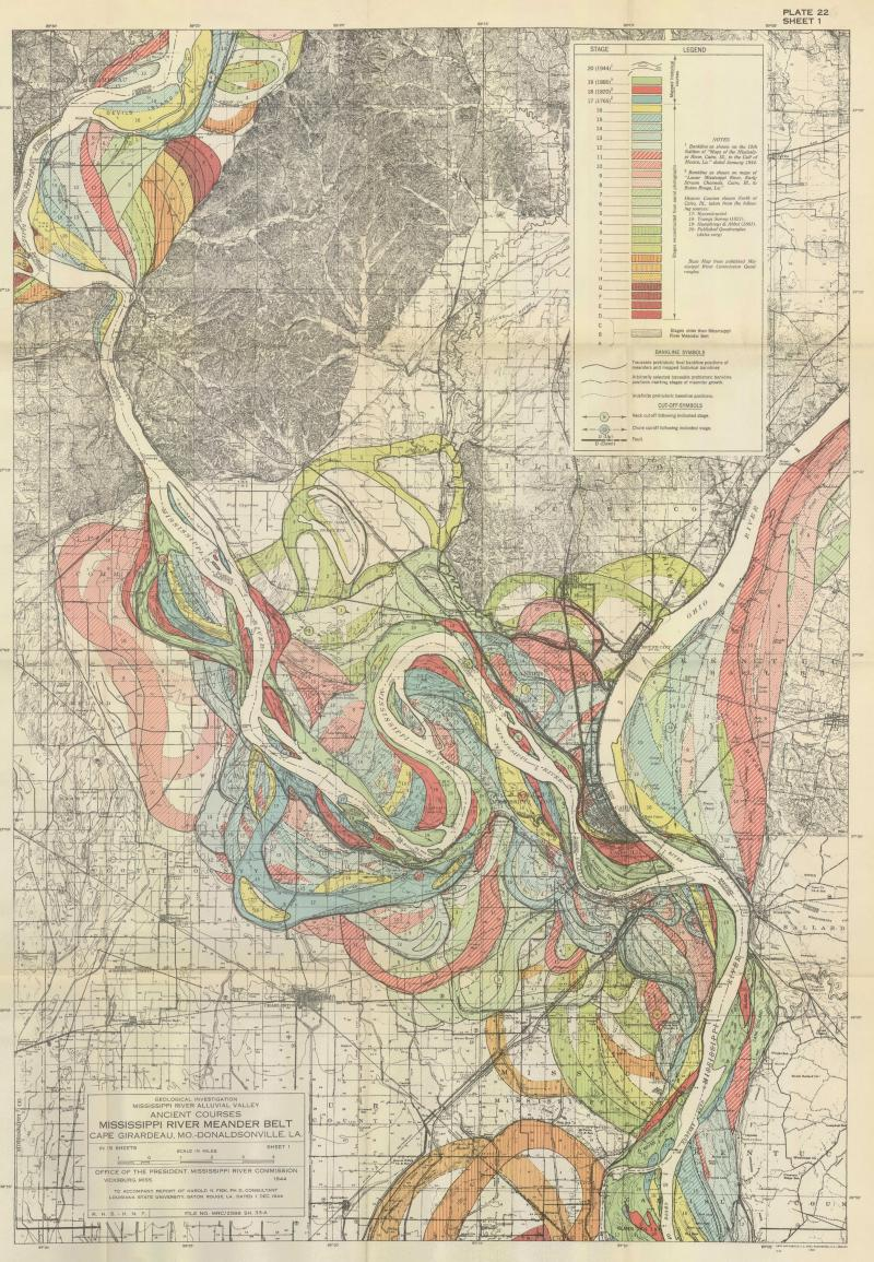 This survey map and others served as inspiration for artist Leslie Sobel's Watershed Moments series.