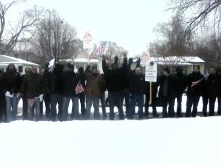 Members of UAW Local 600 say they'll protect Fred Shrum's house from eviction.