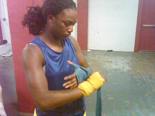 16 year old Claressa Shields photographed in January as she trained at Flint's Berston field house