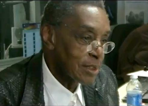 Don Cornelius being interviewed by Herb Kent in 2011.
