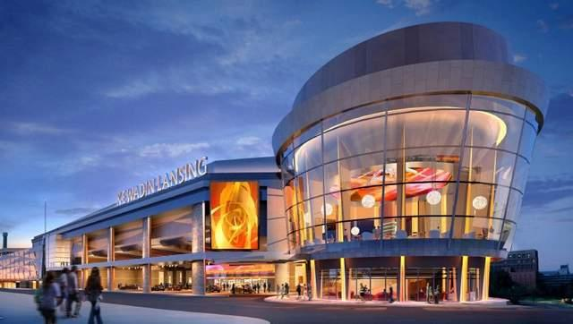 An artist's conception of the proposed Kewadin casino in downtown Lansing