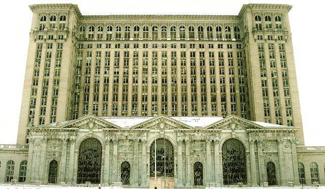 The Michigan Central Depot is a must-have shot for any documentary about Detroit.