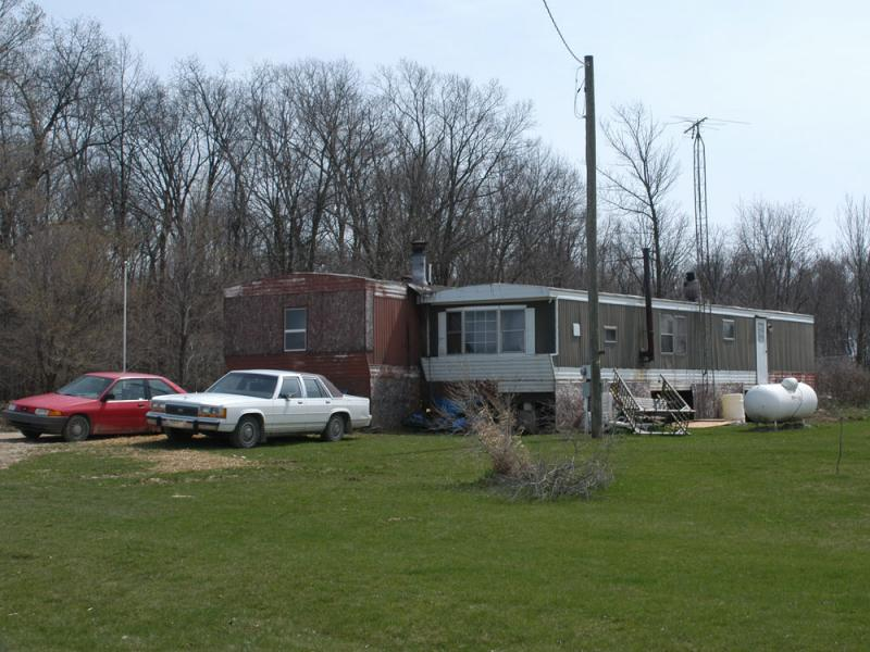 David Stone Sr. and his wife, Tina, members of the Christian militia Hutaree, lived in these trailers in Clayton, Michigan.