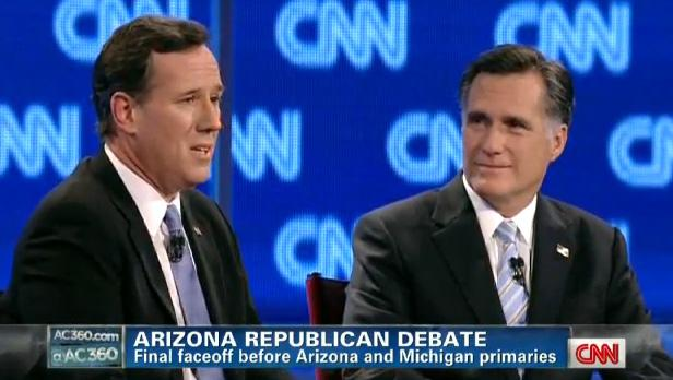 Rick Santorum and Mitt Romney face off during the Republican debate last night. We look at some of the stances on environmental issues.