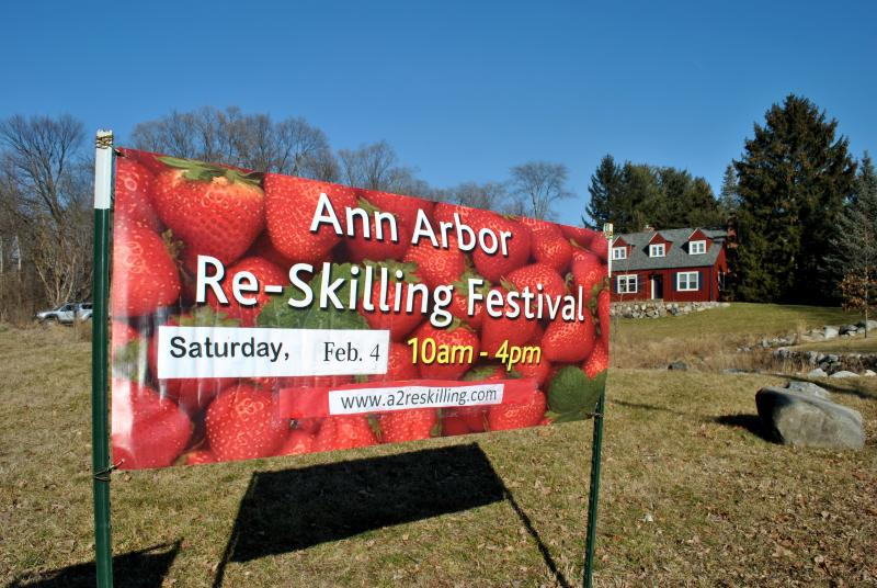 The Ann Arbor ReSkilling Festival was this past Saturday, February 4th at the Rudolph Steiner High School.