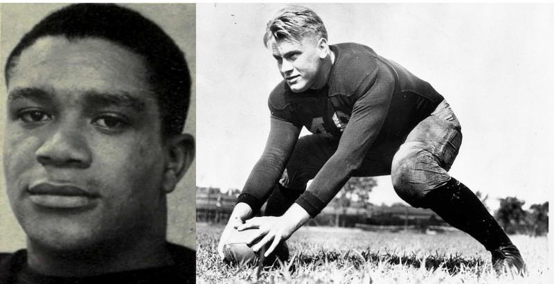 "Willis Ward and Gerald Ford. ""Willis was probably my closest friend on the football team,"" Ford once said.  ""We were the leaders."" Ward was forced to sit during a 1934 game against Georgia Tech."