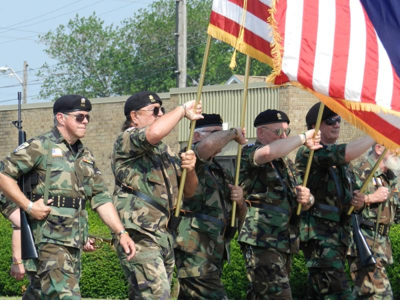 Vietnam veterans march in Dearborn's Memorial day parade