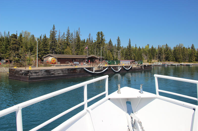 The Isle Royale Queen IV at Rock Harbor.