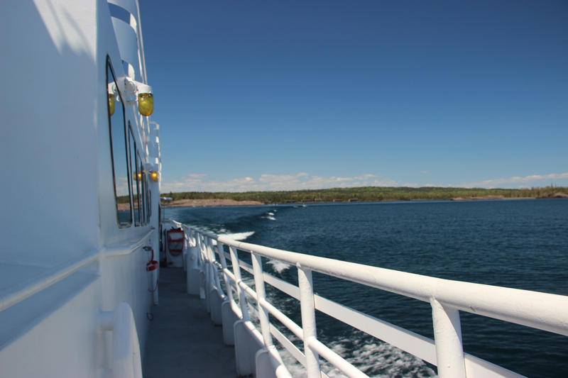 Aboard the Isle Royale Queen IV