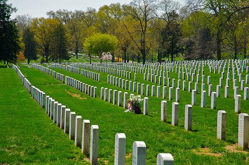 A wreath laid at Arlington National Cemetery