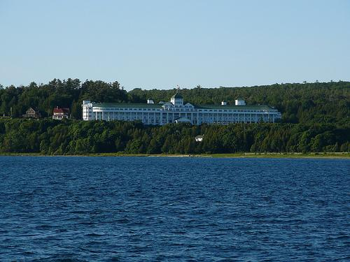 The Grand Hotel on Mackinac Island. The Grand hosts the annual Mackinac Policy Conference put on by the Detroit Regional Chamber of Commerce.