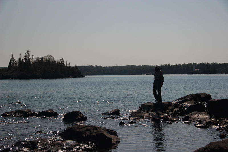 Rolf Peterson on Caribou Island in Isle Royale National Park.