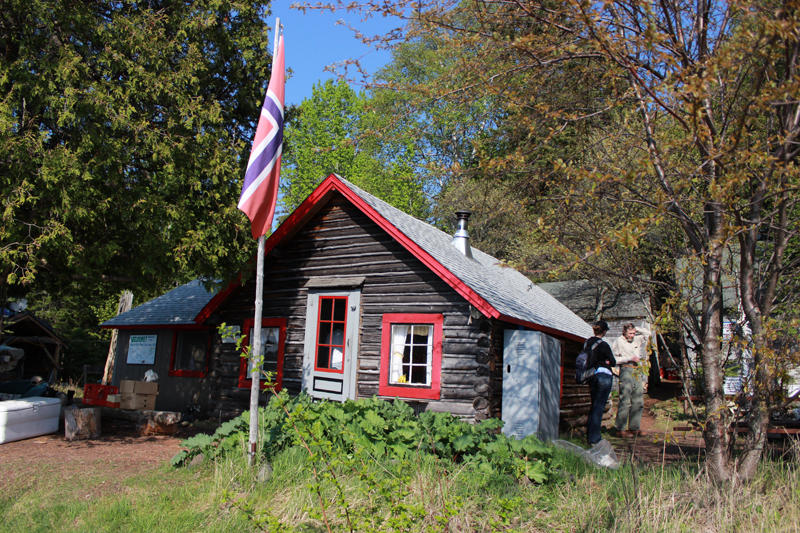Bangsund Cabin is an old fisherman's cabin. It's where Candy and Rolf Peterson spend their months on Isle Royale.
