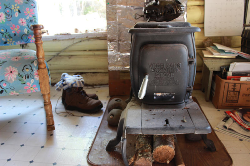 There's no indoor plumbing in Bangsund Cabin, but we can tell you from personal experience that this wood stove is beneficial after you've been caught in a cold rain.