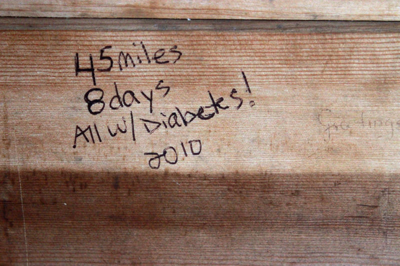 A message from a visitor in shelter #10 on Isle Royale.
