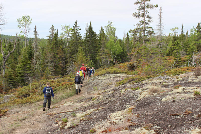 Hiking on Isle Royale.