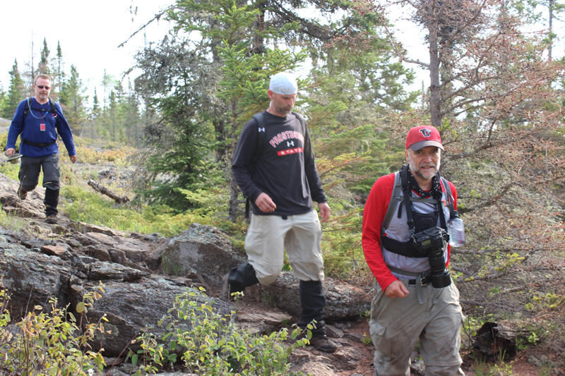 L to R - Moosewatch volunteers Pete Prawdzick, Dave Beck, and Jeff Morrison.