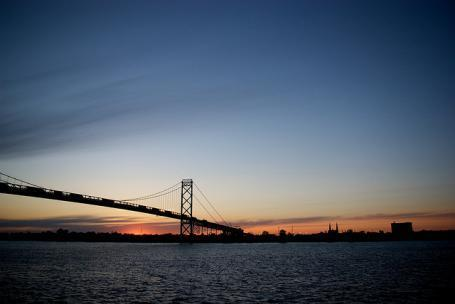 The Ambassador Bridge.