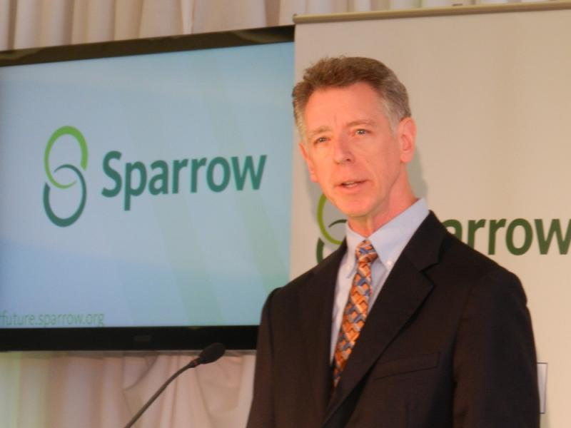 Mayo Clinic Care Network medical director Dr. David Hayes at today's announcement that Sparrow Health Systems is joining the network