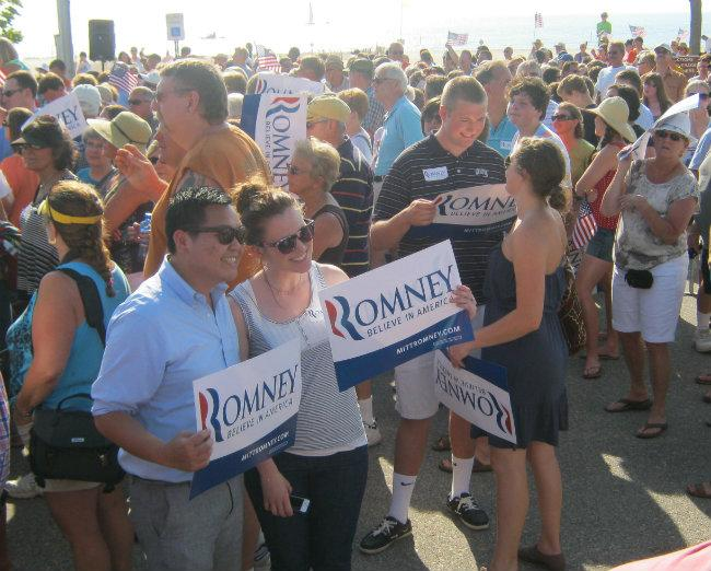 Thousands gather for the event Tuesday evening.