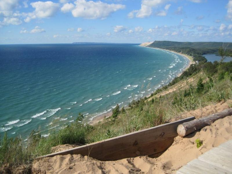 Lake Michigan's Sleeping Bear Dunes.