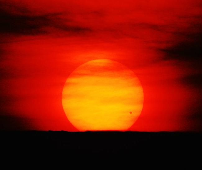 The transit of Venus comes in pairs. This is a photo of the last transit of Venus in 2004. The next one isn't until the year 2117.