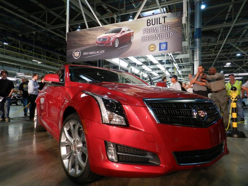 2013 Cadillac ATS rolled off the assembly line for the first time today in Lansing, Michigan