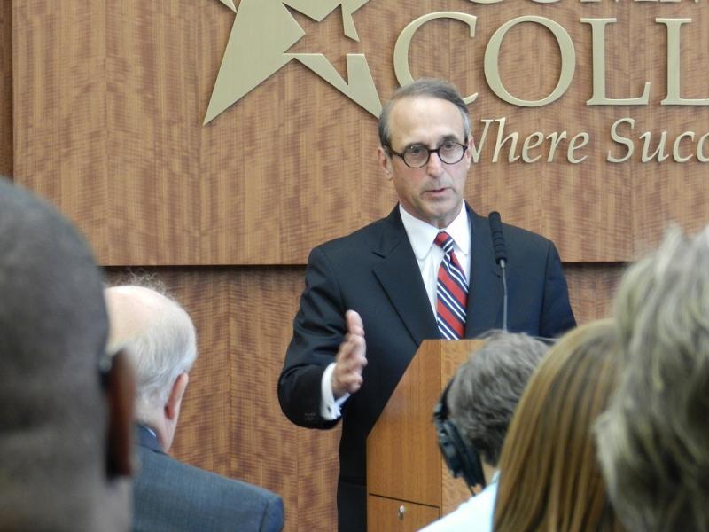 Lansing Community College president Brent Knight