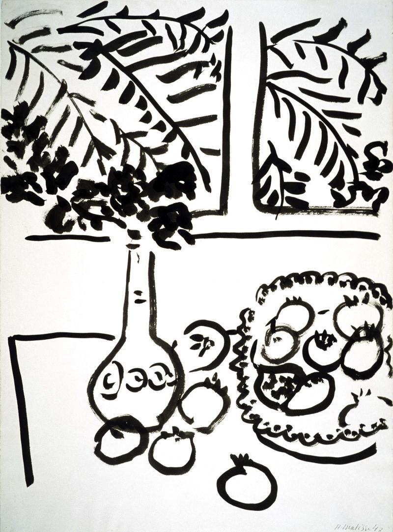 Matisse - Still Life with Fruit and Flowers, 1947