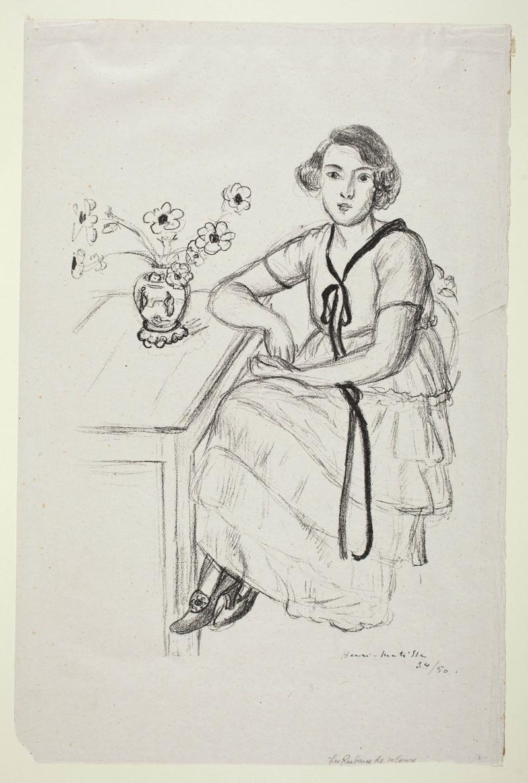 Matisse - Yellow Dress with Black Ribbon, 1922