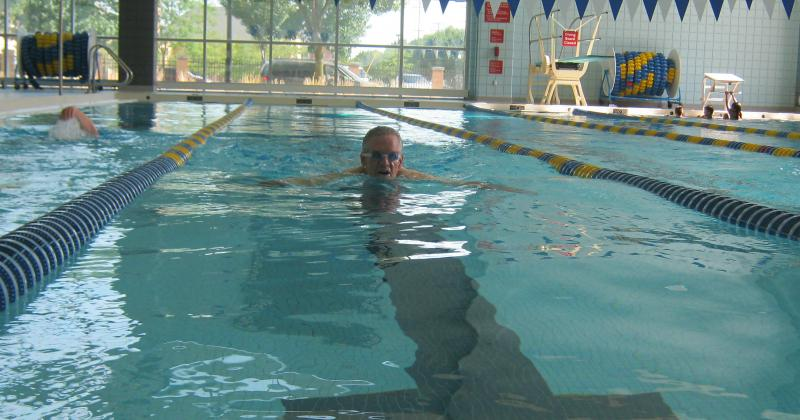 Steve Vanheest has been training for the Transplant Games of America at the Hunting YMCA in Grand Rapids.