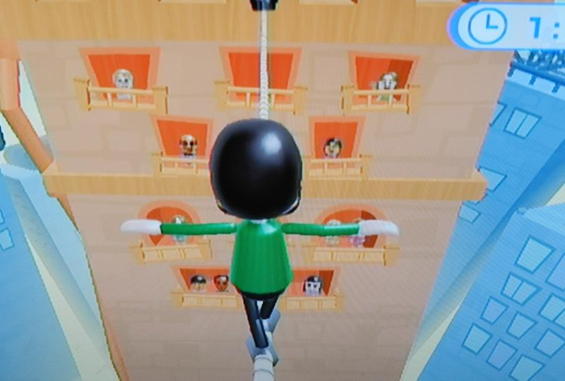 One of many balance games on the Wii Fit Plus