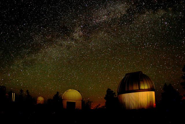 The Milky Way above an AZ observatory.
