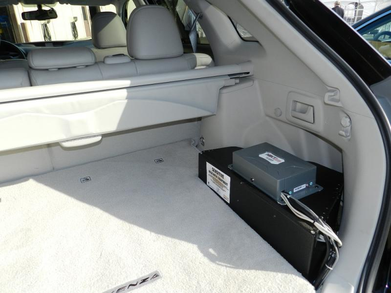 The connected vehicle systems package will take up some space in the vehicles taking part in the study.