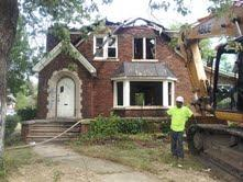 A house about to be demolished in the Morningside neighborhood.