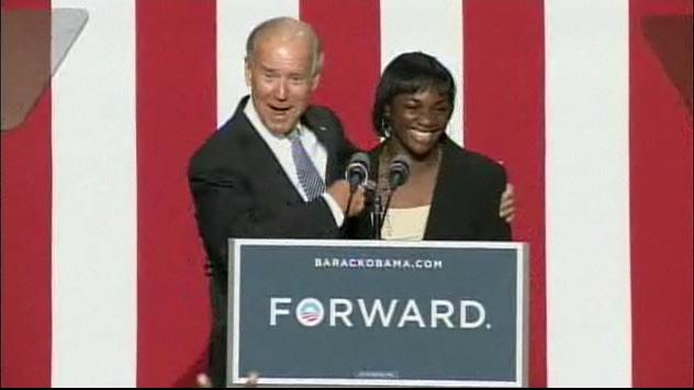 Vice President Joe Biden and Olympian Claressa Shields