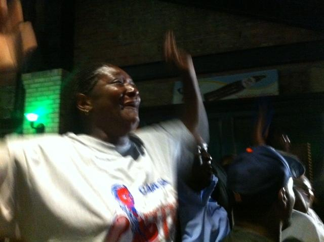 Shields' Mother at the Flint Watch Party