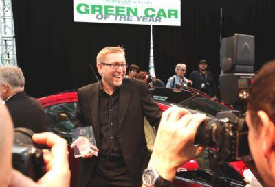 Joel Ewanick receiving Green Car of the Year for the Chevy Volt