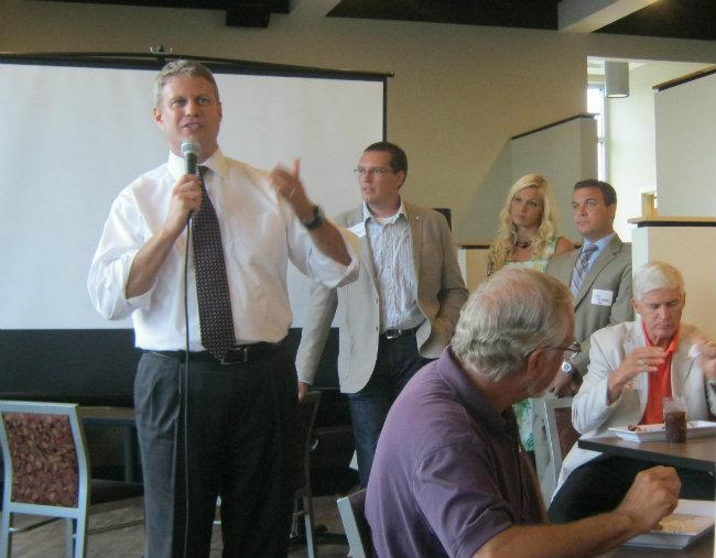 US Congressman Bill Huizenga (R-Mich) at a Kent County unity party following the primary this week.