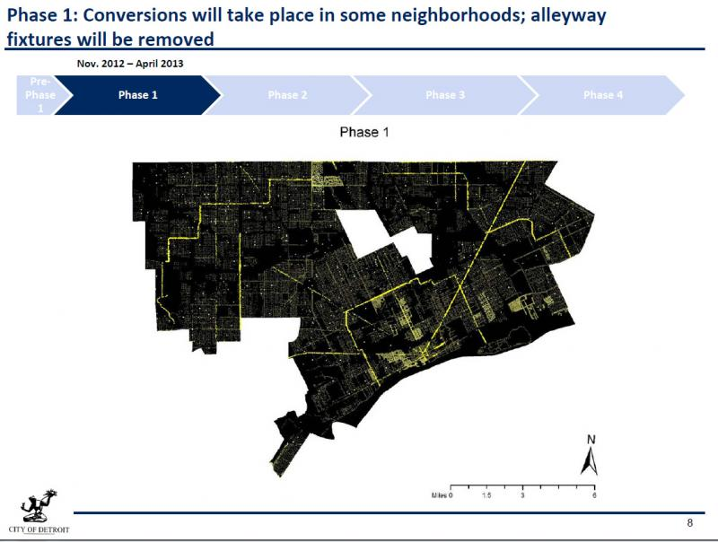 Plan Phases from The City of Detroit Public Lighting Strategy Executive Summary
