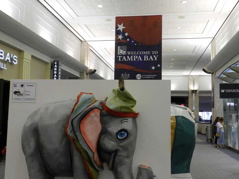 Tampa International Airport decked out to greet delegates and others coming to town for the Republican National Convention.