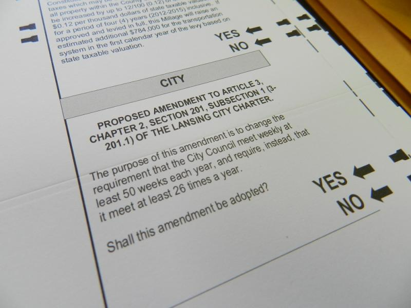 How often should the Lansing City Council meet?  That's the question on next Tuesday's ballot.