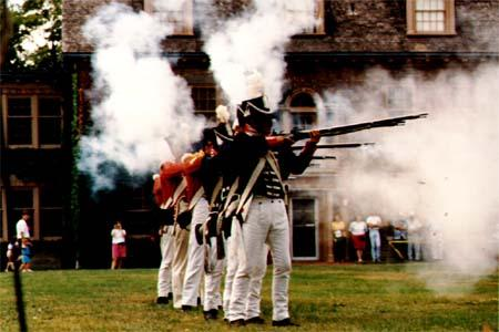 War of 1812 re-enactors at Fort Malden in Amherstberg, Ontario.