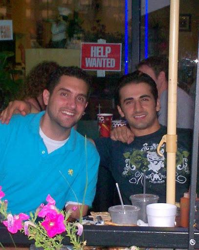 Amir Hekmati (right) with his brother-in-law, Dr. Ramy Kurdi. The Hekmati family is pushing to bring Amir home as his father ails.