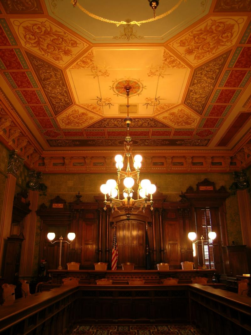 Old Supreme Court chambers in the Michigan capitol.